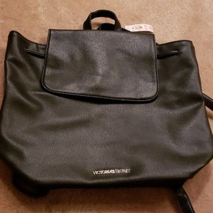 Victoria Secret NWT Black Bookbag Purse